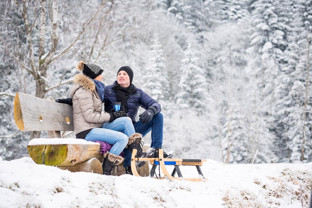 Winterlandschaft Zugerberg